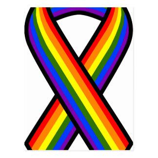 Rainbow Equality Ribbon Postcard