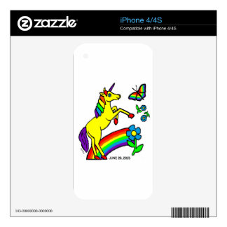 Rainbow Equality Unicorn Decals For The iPhone 4