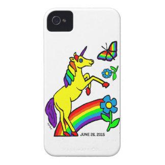 Rainbow Equality Unicorn iPhone 4 Case-Mate Case