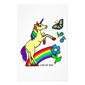 Rainbow Equality Unicorn Stationery