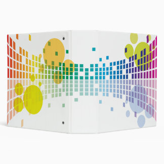 rainbow equalizer abstract notebook 3 ring binder