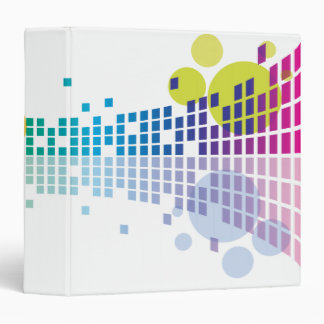 rainbow equalizer abstract notebook binders