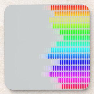 rainbow equalizer drink coaster
