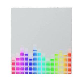 rainbow equalizer memo note pad