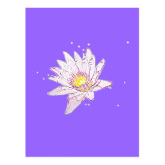 Rainbow Etching Lotus Postcard