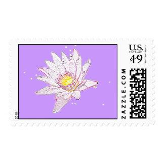 Rainbow Etching Lotus stamps