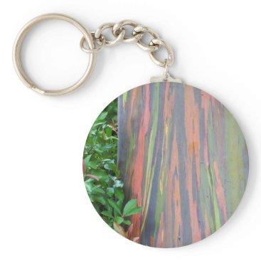 Hawaiian Themed Rainbow Eucalyptus Keychain