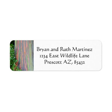Hawaiian Themed Rainbow Eucalyptus Label