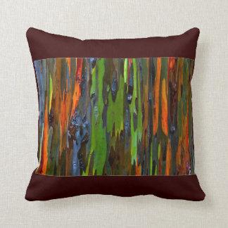 Rainbow Eucalyptus Tree Square Pillow