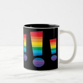 Rainbow Exclamation Point mug
