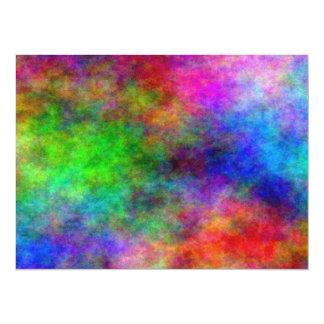 Rainbow Explosion 5.5x7.5 Paper Invitation Card