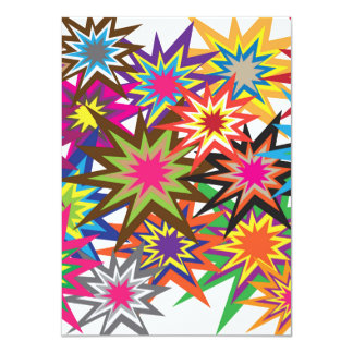 Rainbow Explosions Pattern Card