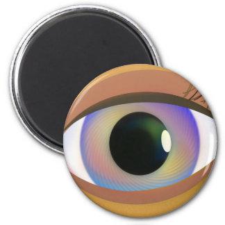 Rainbow Eye 2 Inch Round Magnet
