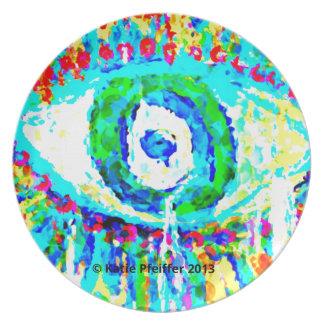 Rainbow Eye  Design Plate