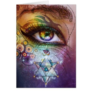 Rainbow Eye Love & Light Card