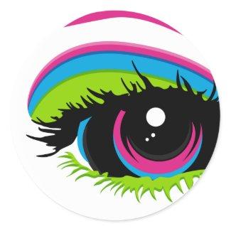 Rainbow Eye Sticker Sheet sticker