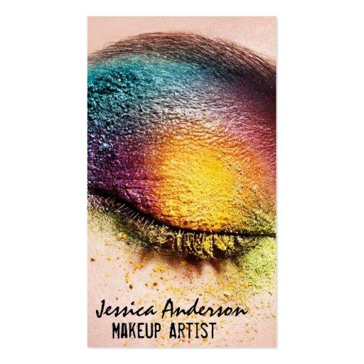 Rainbow Eyes Makeup Artist Business Card Templates
