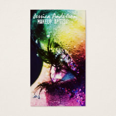 Rainbow Eyes Makeup Artist Business Card at Zazzle