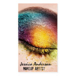 Rainbow Eyes Makeup Artist Double-Sided Standard Business Cards (Pack Of 100)