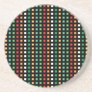 Rainbow Eyes Squared Coaster