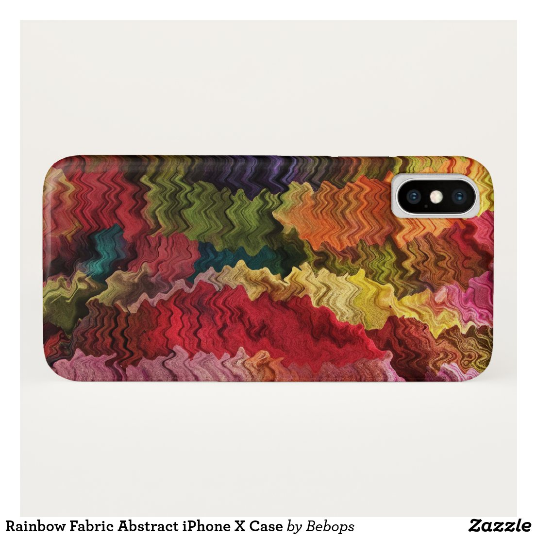 Rainbow Fabric Abstract iPhone X Case