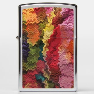 Rainbow Fabric Abstract Pattern Zippo Lighter