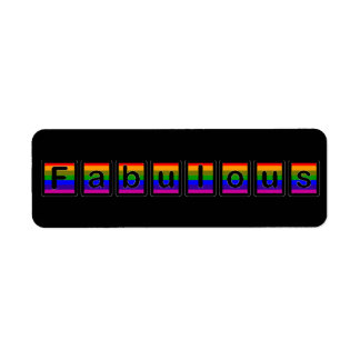 Rainbow Fabulous Label