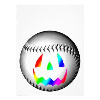Rainbow Face Baseball Custom Announcement