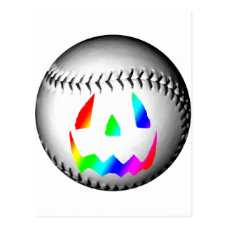 Rainbow Face Baseball Postcard