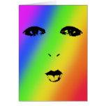 Rainbow Face Blank Card