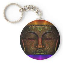 Rainbow Face Buddha Keychain