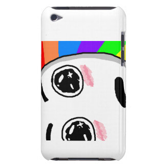 Rainbow Face Ipod4G Barely There iPod Case