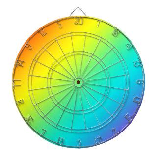 rainbow fade dartboard