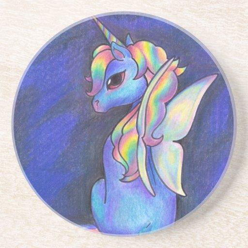 Rainbow Faerie Unicorn Coaster