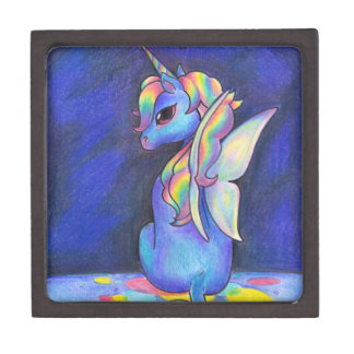 Rainbow Faerie Unicorn Keepsake Box