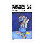 Rainbow Faerie Unicorn Postage Stamps