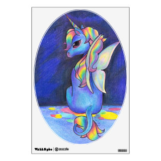 Rainbow Faerie Unicorn Wall Sticker