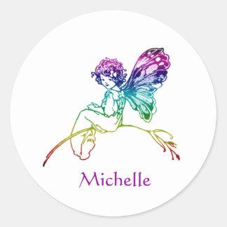 Rainbow Fairy Custom Classic Round Sticker