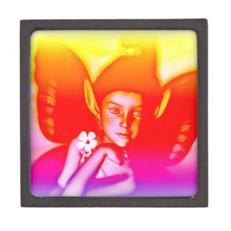 Rainbow fairy trinket box