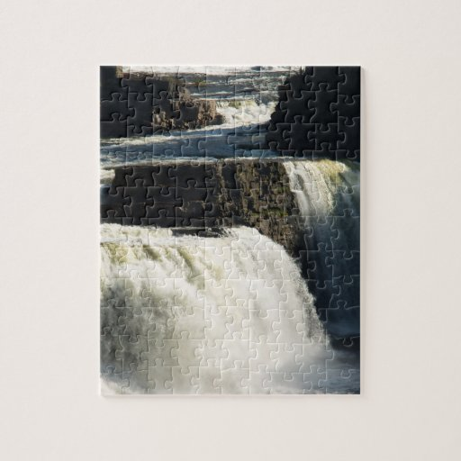 Rainbow Falls at Ausable Chasm Puzzle