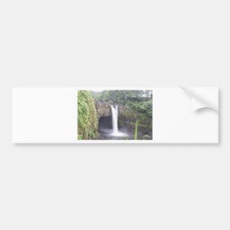 Rainbow Falls Hawaii Bumper Sticker