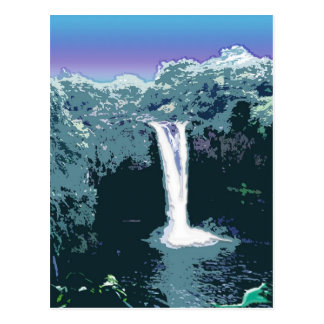 Rainbow Falls, Hawaii Postcard