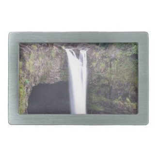 Rainbow Falls Hawaii Rectangular Belt Buckle