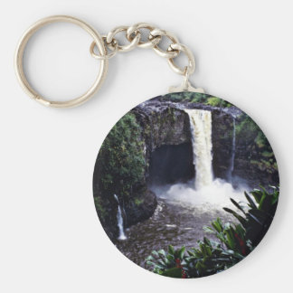 Rainbow Falls - Hilo, Hawaii Basic Round Button Keychain