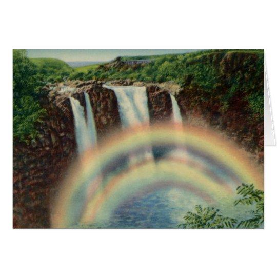 Rainbow Falls Hilo Hawaii Card