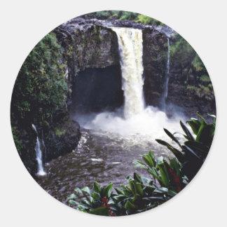 Rainbow Falls - Hilo, Hawaii Classic Round Sticker