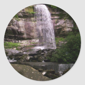 Rainbow Falls in the Great Smoky Mountains Classic Round Sticker