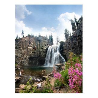 Rainbow Falls Waterfall - Devils Postpile - Sierra Postcard