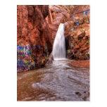 Rainbow Falls with Graffiti Postcard