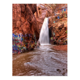 Rainbow Falls with Graffiti Postcard
